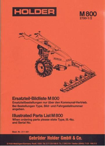 Holder M800 Ersatzteilbildliste
