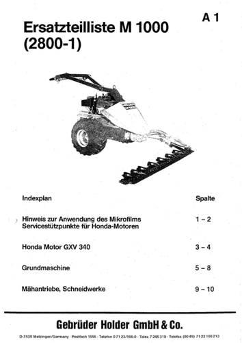 Holder M1000 Ersatzteilbildliste