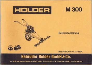 Holder M300 Betriebsanleitung