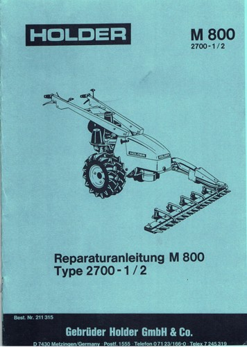 Holder M800 Reparaturanleitung