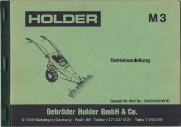 Holder M3 Betriebsanleitung