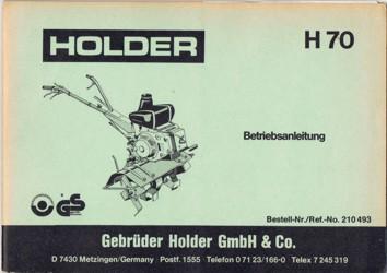 Holder H70 Betriebsanleitung