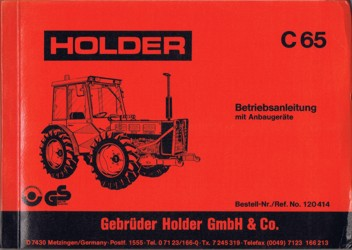 Holder C65 Betriebsanleitung